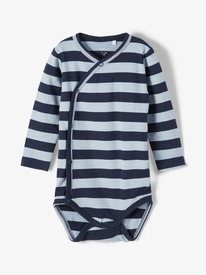 Blå omslagsbody baby gutt