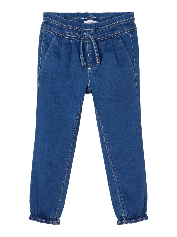 Blå denimbukse jente