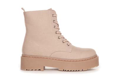 Light pink canvas boots