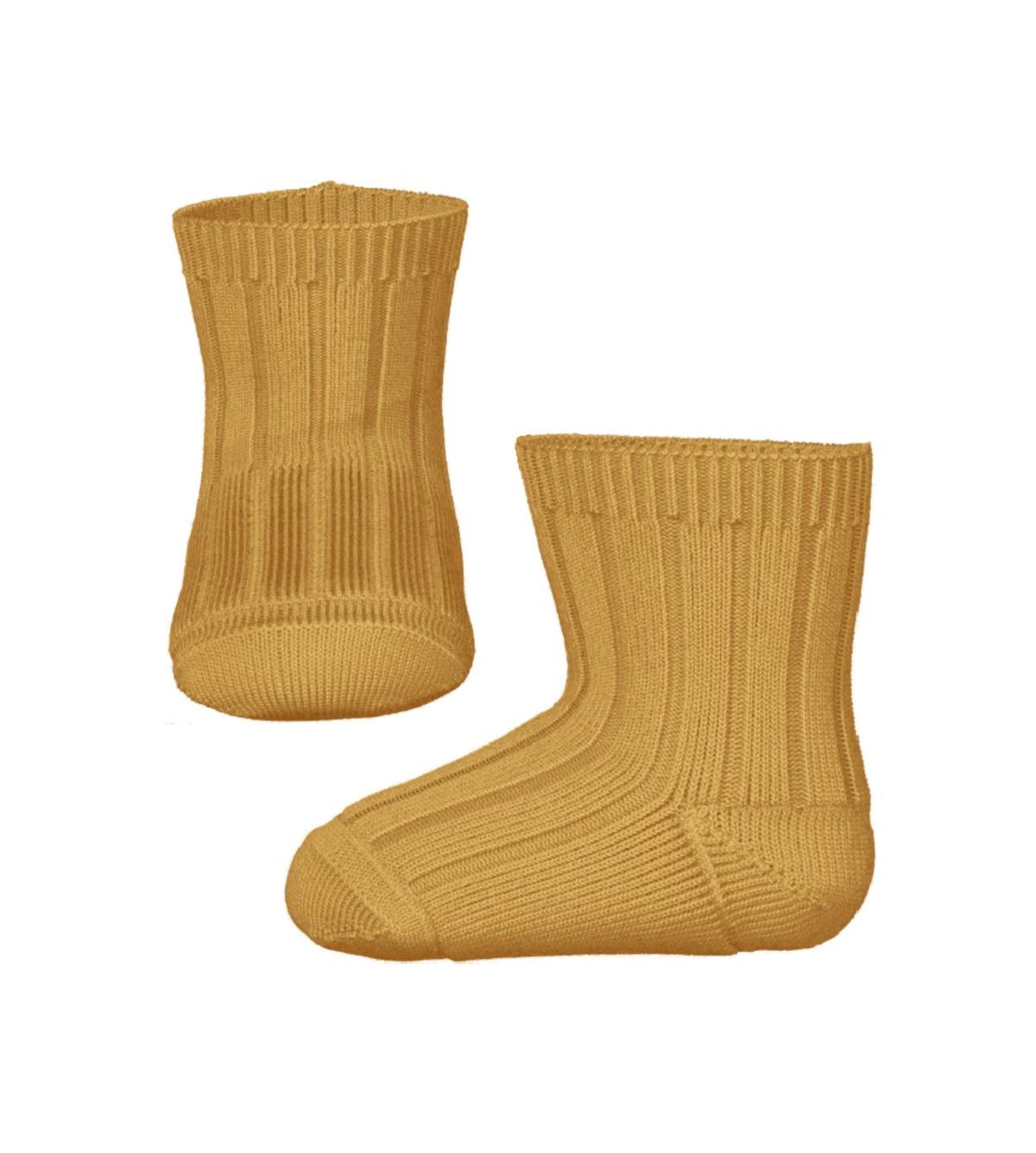 Gule sokker til baby