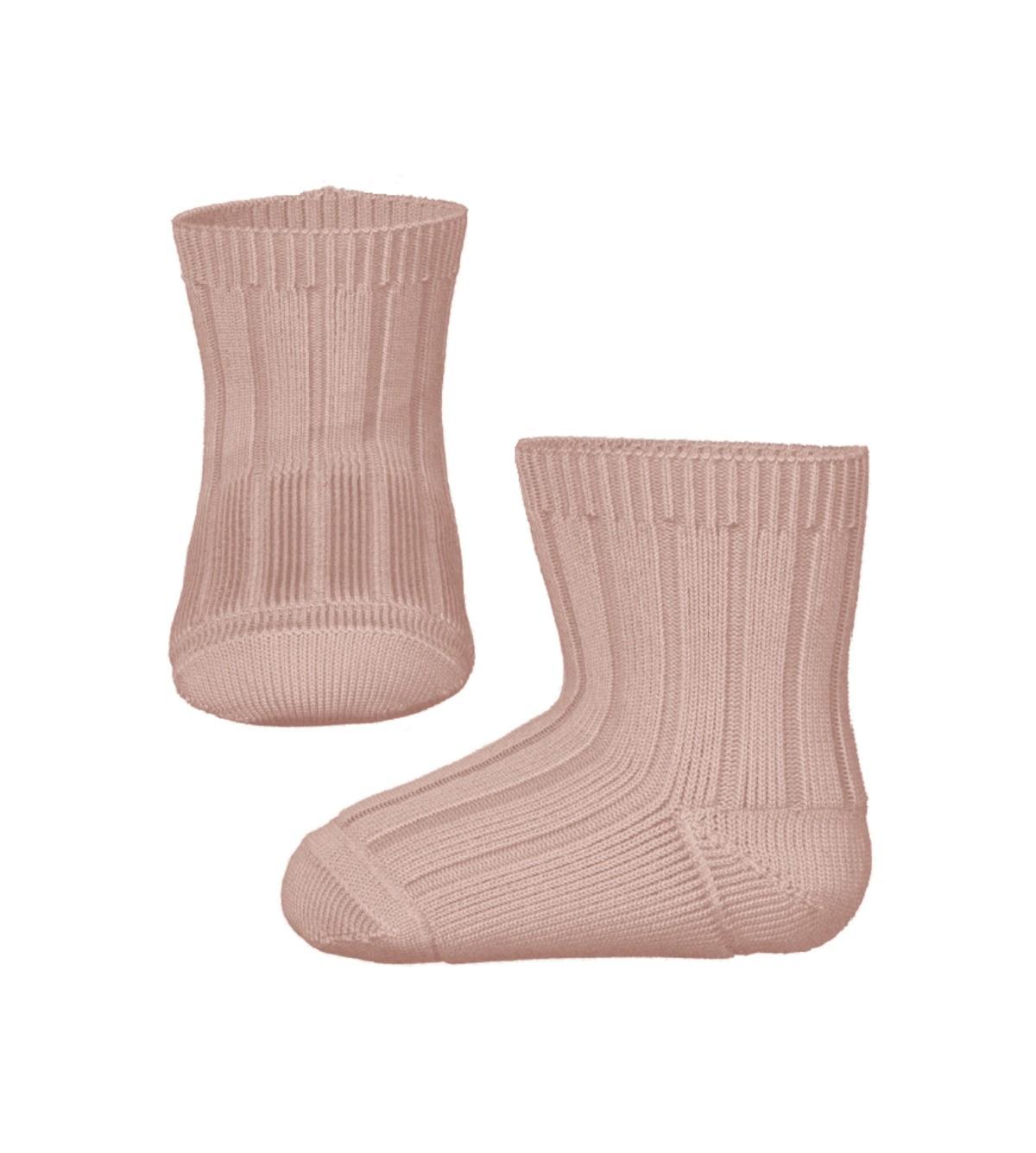Rosa sokker til baby