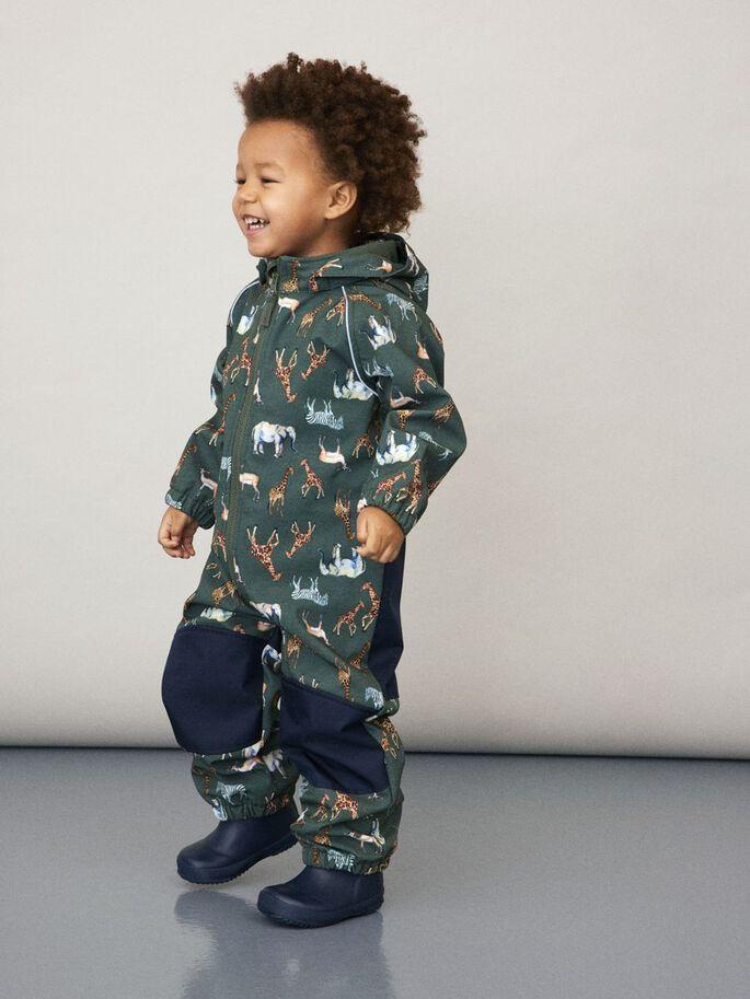 Grønn sofshelldress til barn