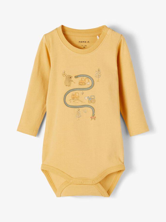 Gul body til baby gutt – Name It gul body Dadim – Mio Trend