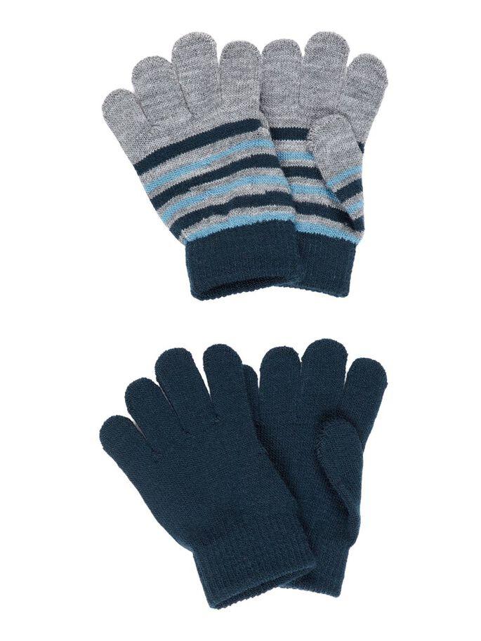 Fingervanter til barn – Name It 2-pk fingervanter blå og grå – Mio Trend