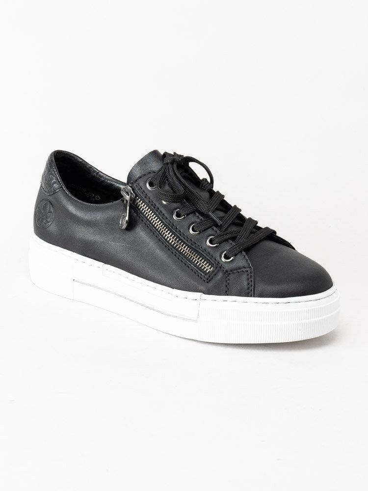 Rieker sort sneaker skinn