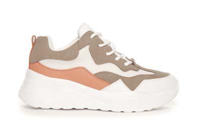 Beige/hvite sneakers Duffy