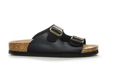 Sort slip-in sandal