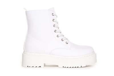Hvite canvas boots Duffy