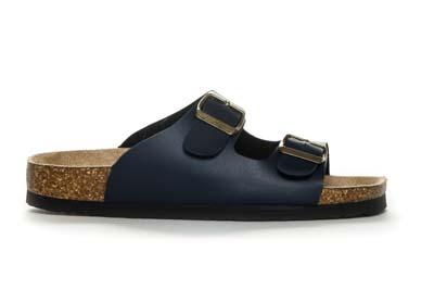 Marineblå sandal med regulering