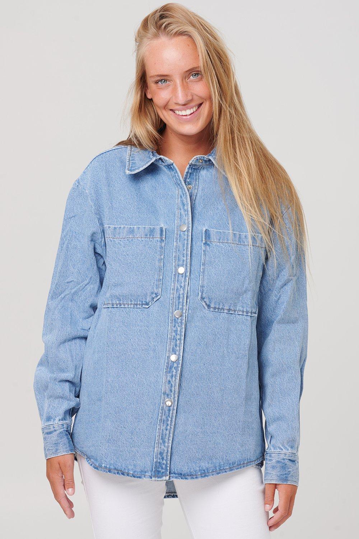 Noella Vance pocket denim skjorte