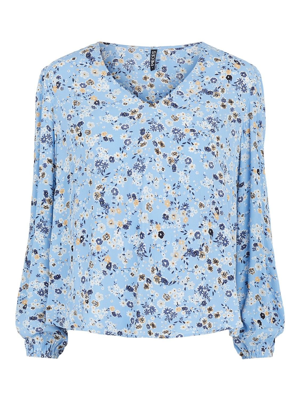 Blå bluse blomster Pieces