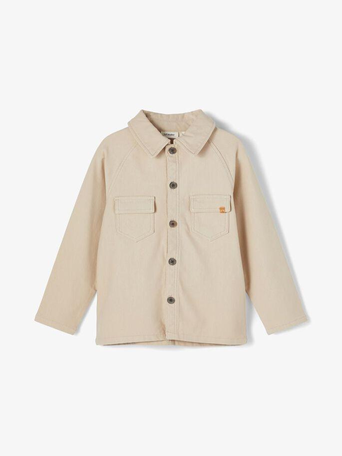 Lys beige skjorte gutt