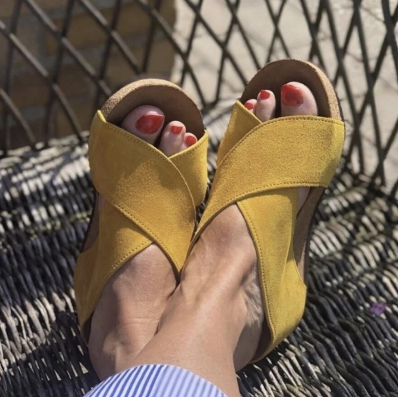 Gul Frances sandal Copenhagen Shoes