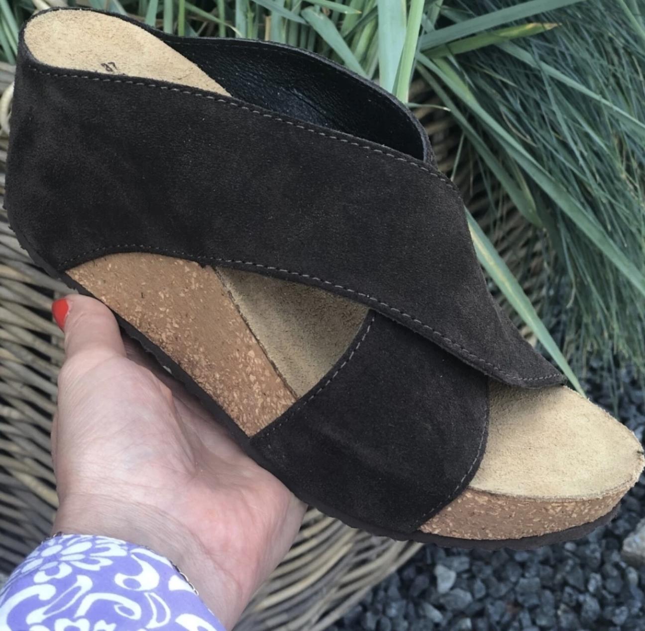 Sort sandal Frances