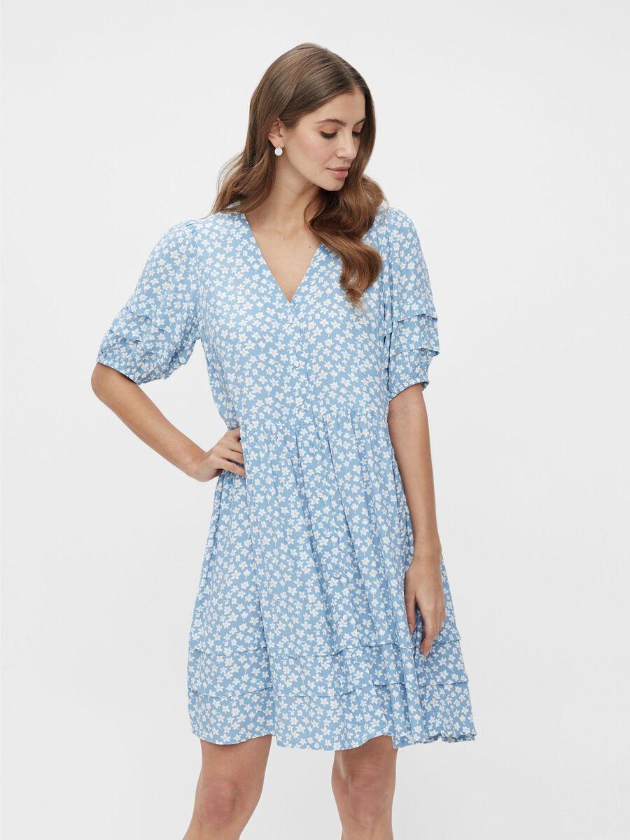 Lyseblå kjole fra Yas – Y.A.S lyseblå kjole Lura – Mio Trend