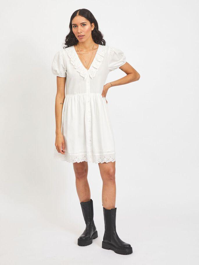 Hvit kjole Vila Cillie