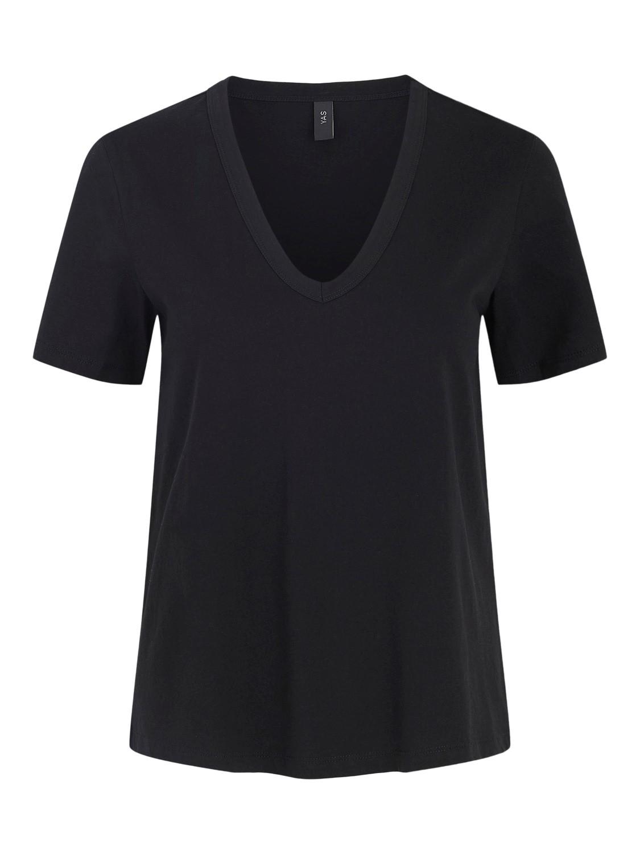 Svart t-skjorte v-hals Yas
