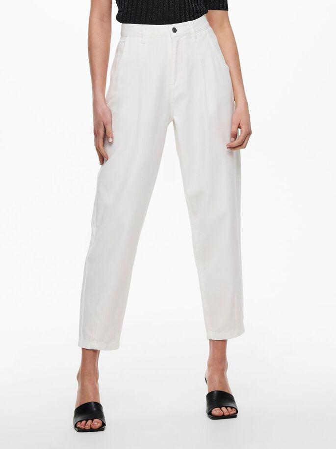 Hvit baggy jeans Jdy