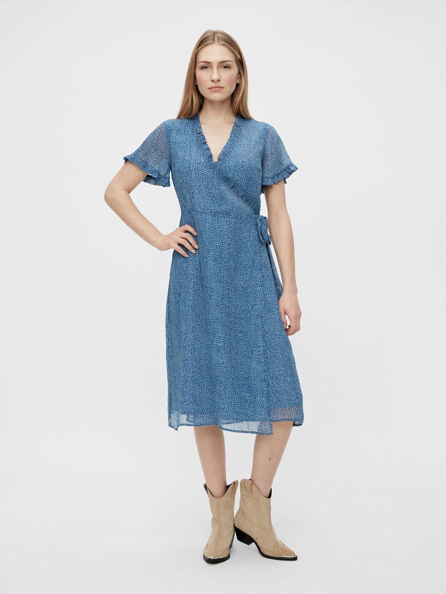 Blå omslagskjole fra Yas