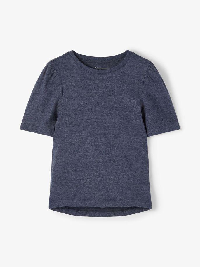Blå t-skjorte til jente