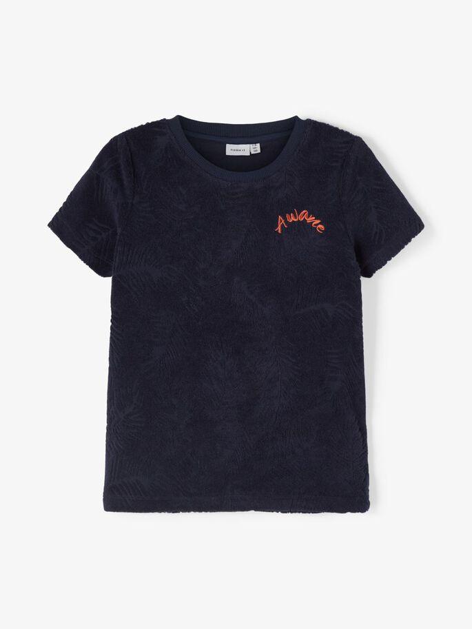 Blå t-skjorte i frottè