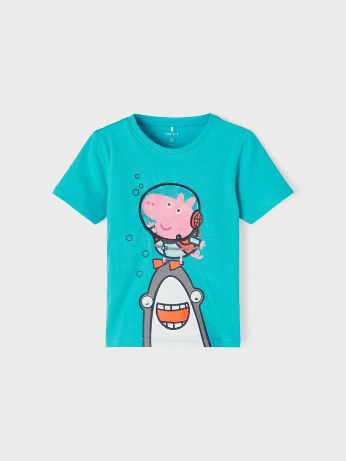 Turkis t-skjorte Peppa Gris