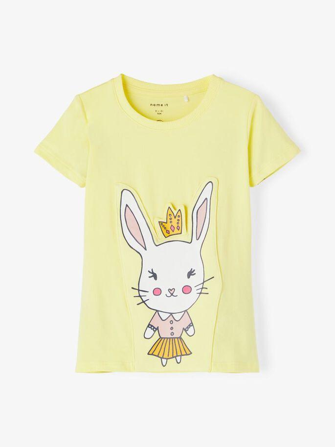 Gul t-skjorte kanin