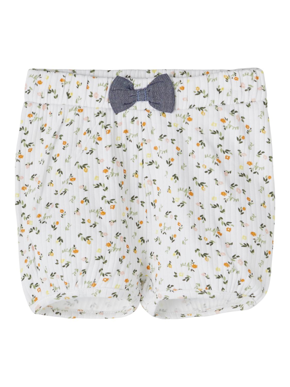 Hvit shorts til baby