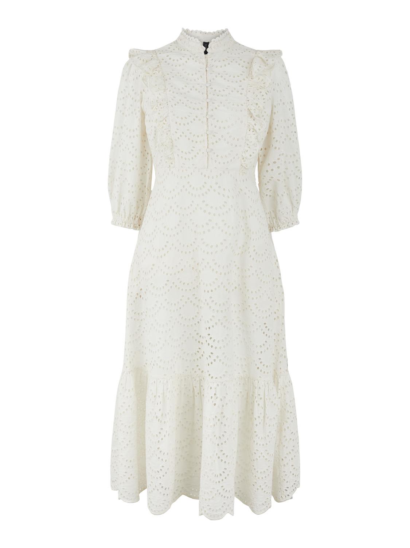 Hvit lang kjole