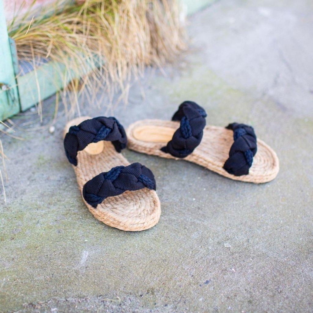 Jump sorte sandaler