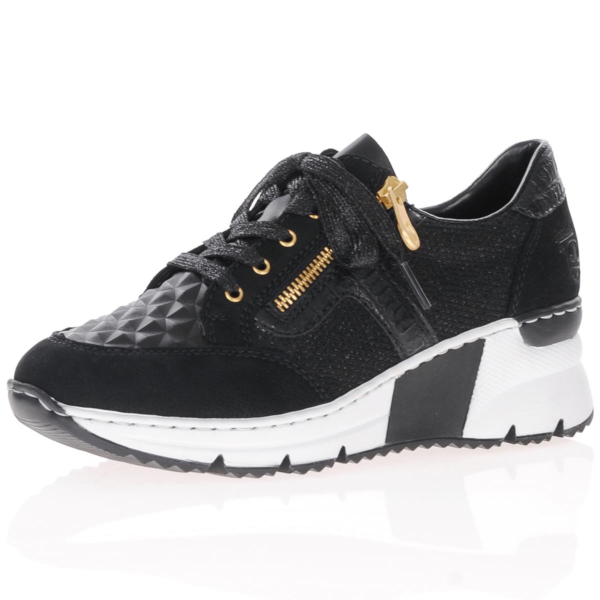 Rieker sko sort og gull