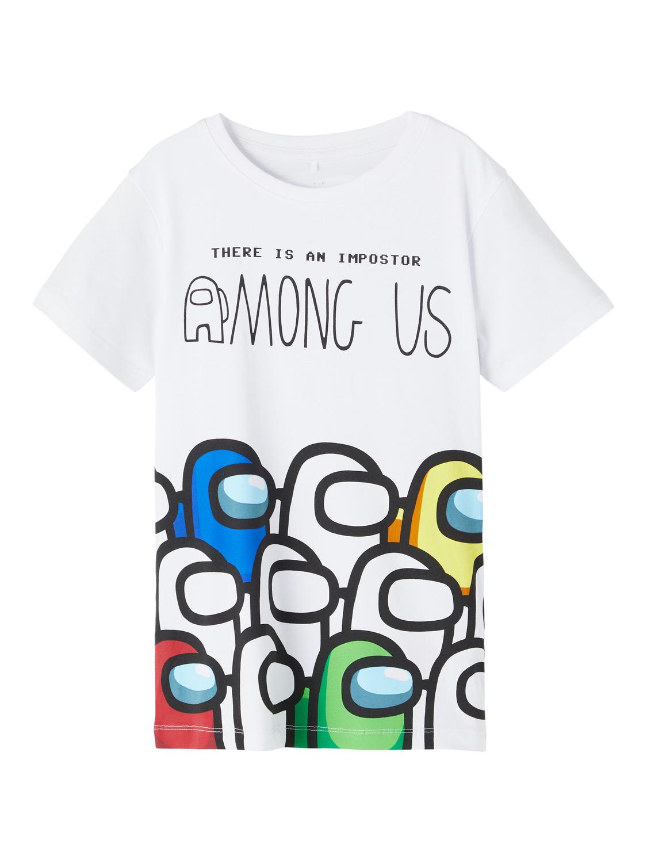Hvit Among Us t-skjorte