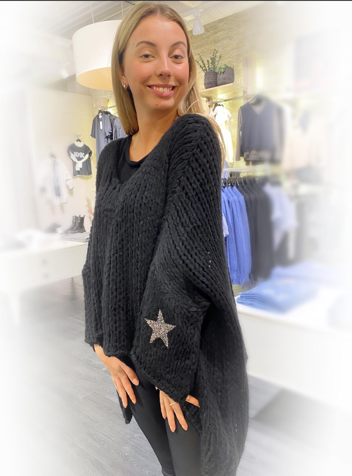 Pepper genser stjerne sort