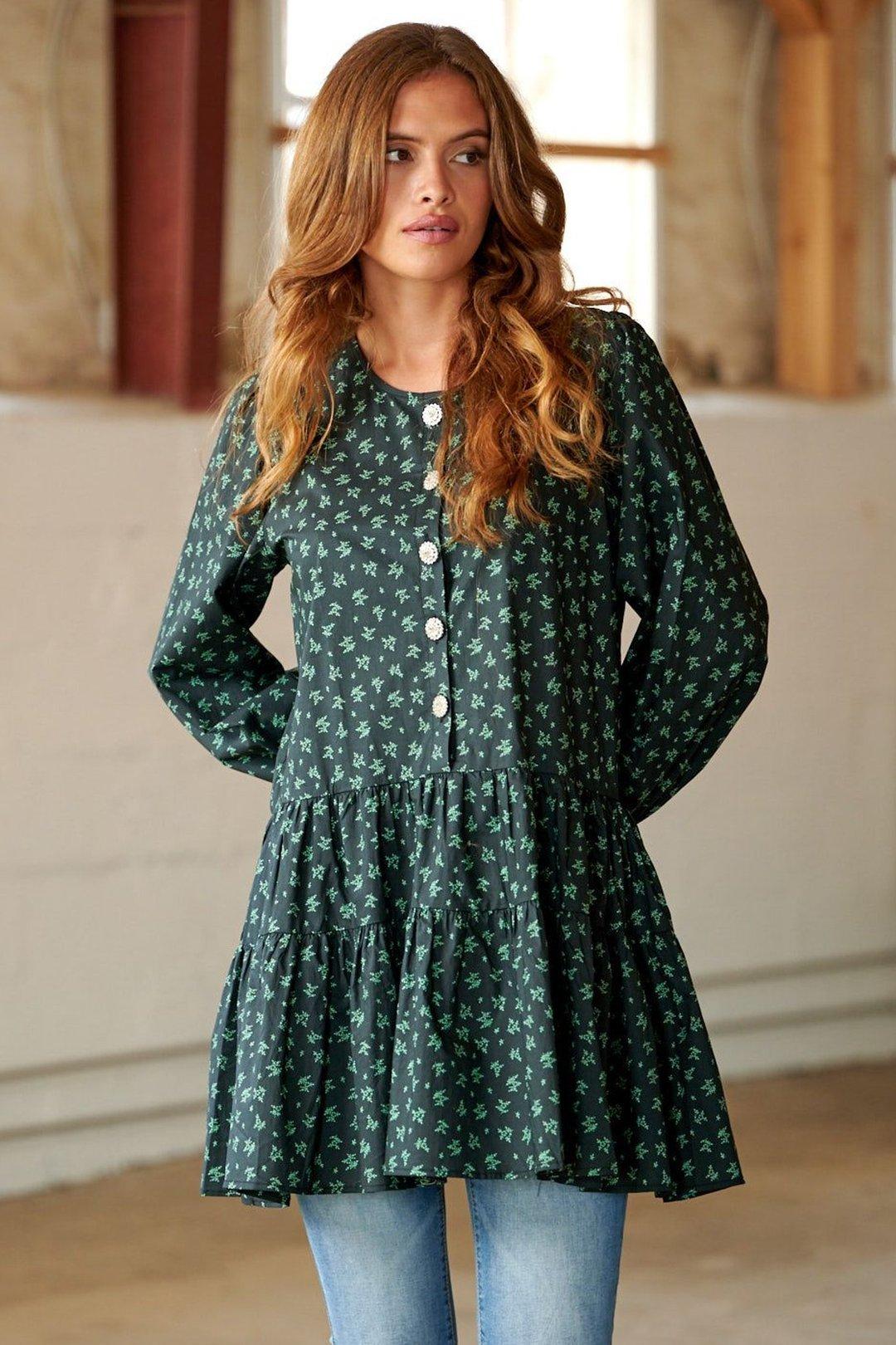 Noella kjole Heather grønn