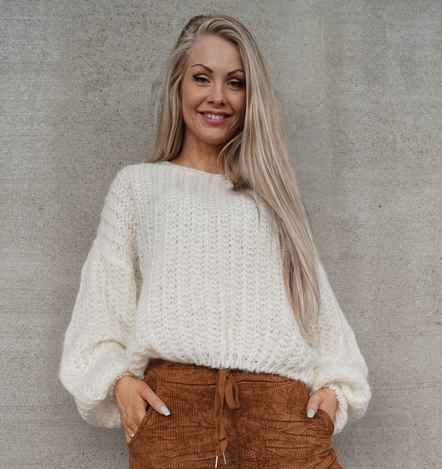 Nora beige genser Pepper – Pepper Nora beige genser – Mio Trend
