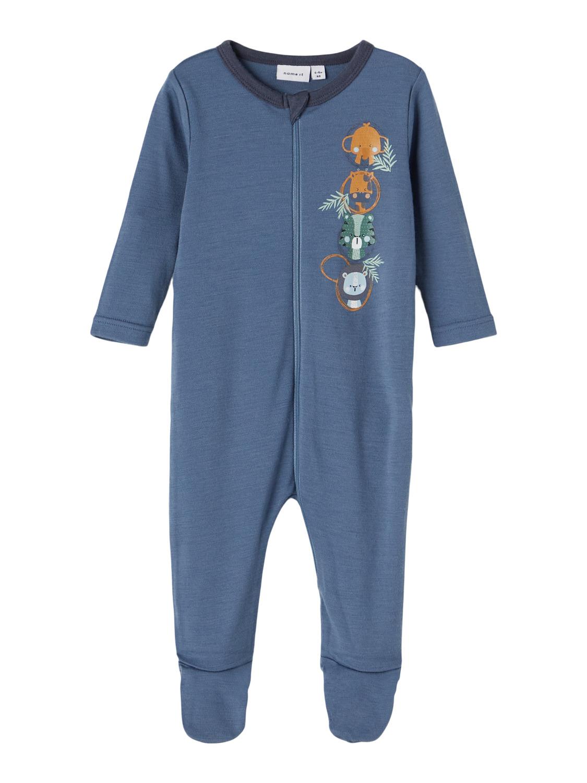 Blå pysjamas i ull