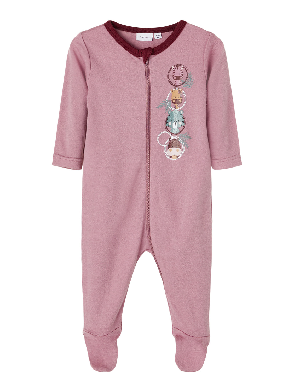 Pysjamas til baby i ull