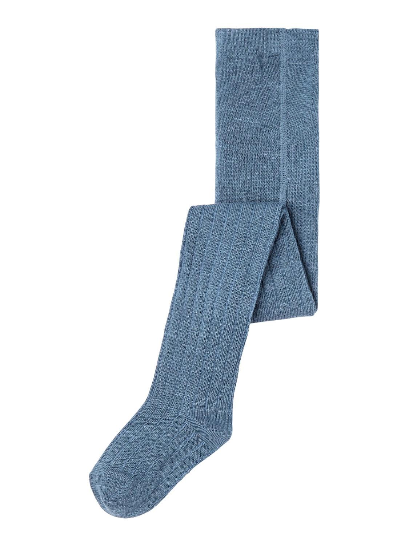 Ull strømpebukse blå