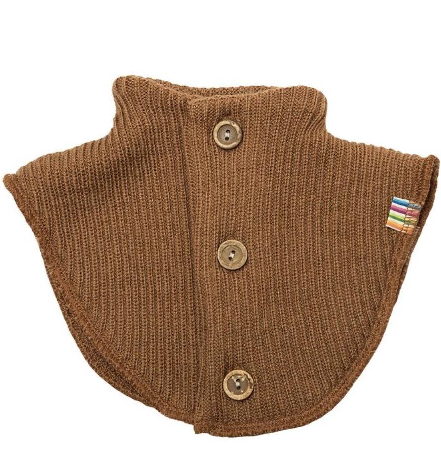 Brun strikkehals ull