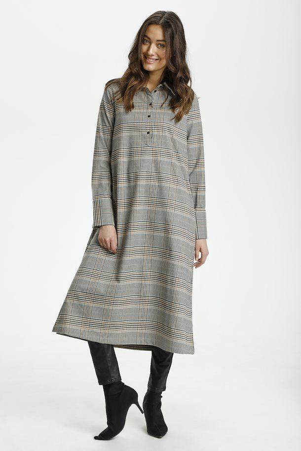 Culture kjole med ruter