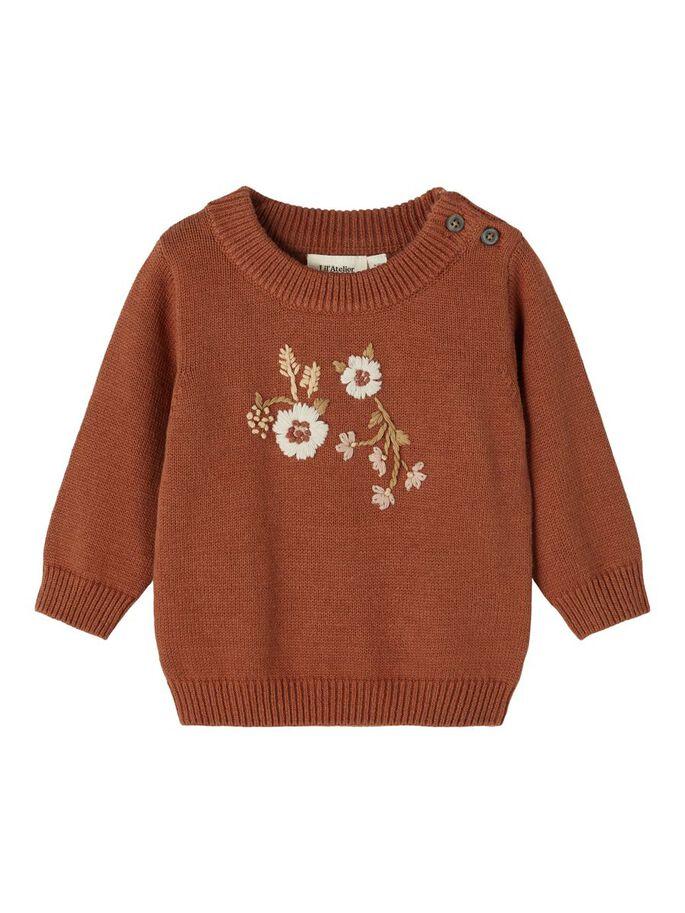 Brun strikkegenser Lil`Atelier