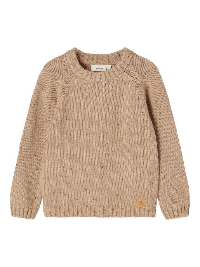 Beige strikkegenser Lil´Atelier