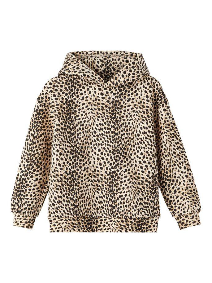 Hettegenser leopardprint