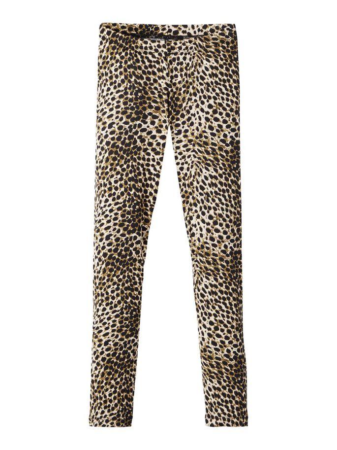 Tights med leopardmønster