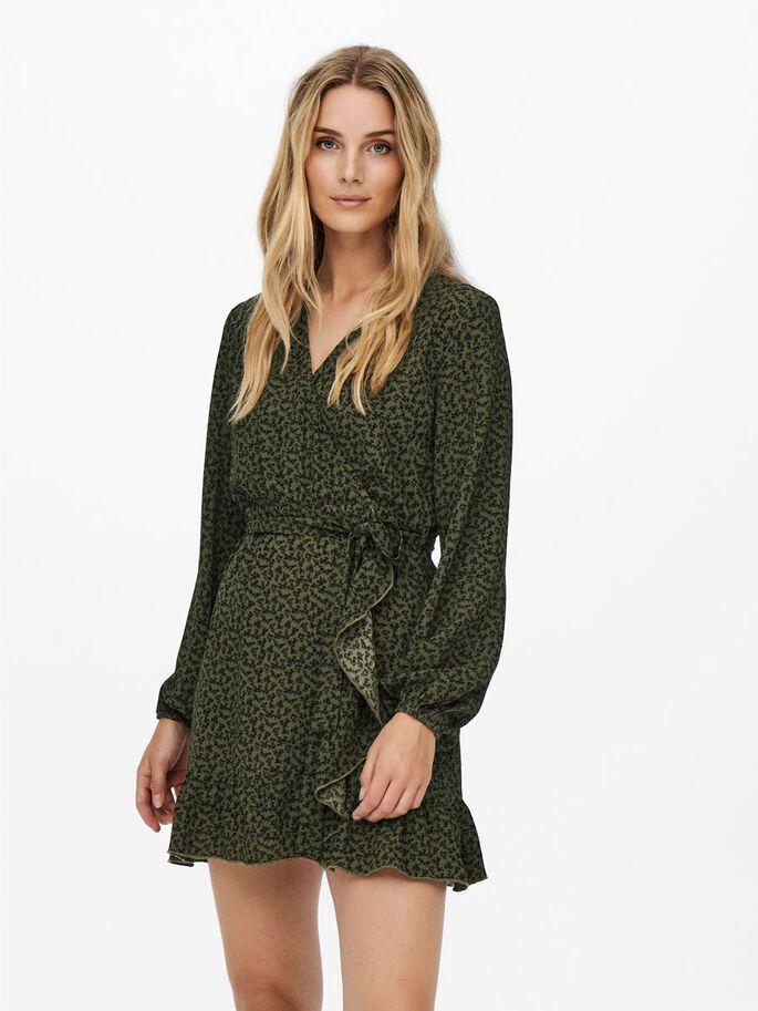 Grønn wrap-dress Jdy