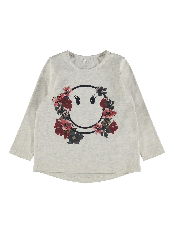 Grå genser Happy