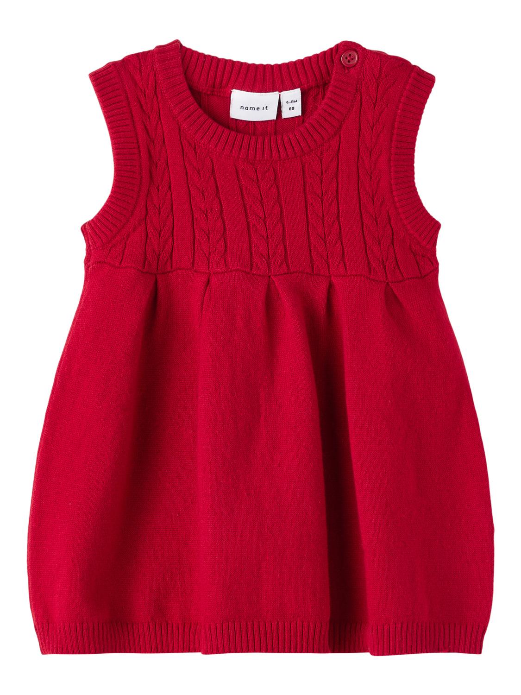 Rød julekjole baby